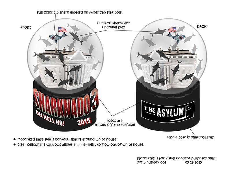 design drawing of polyresin snow globe promotion gifts
