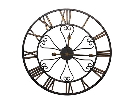 24 Inches Metal Skeleton Loft Wall Clock