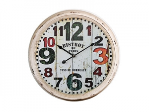 24 Inches Metal Rimmed Wall Clock