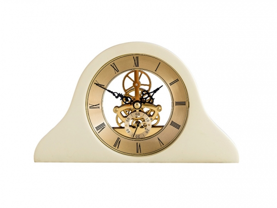 polyresin skeleton mantle clock